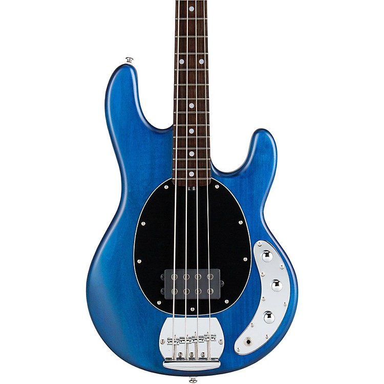 Sterling by Music ManS.U.B. Ray4 Bass GuitarBlue SatinRosewood Fingerboard