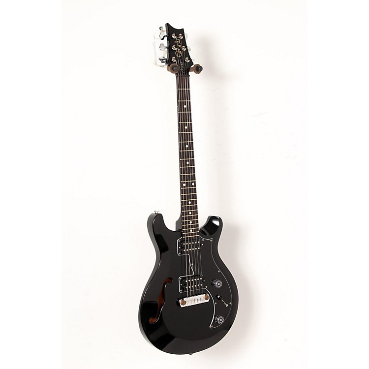 PRS S2 Mira Semi-Hollow Electric Guitar Black 888365910116