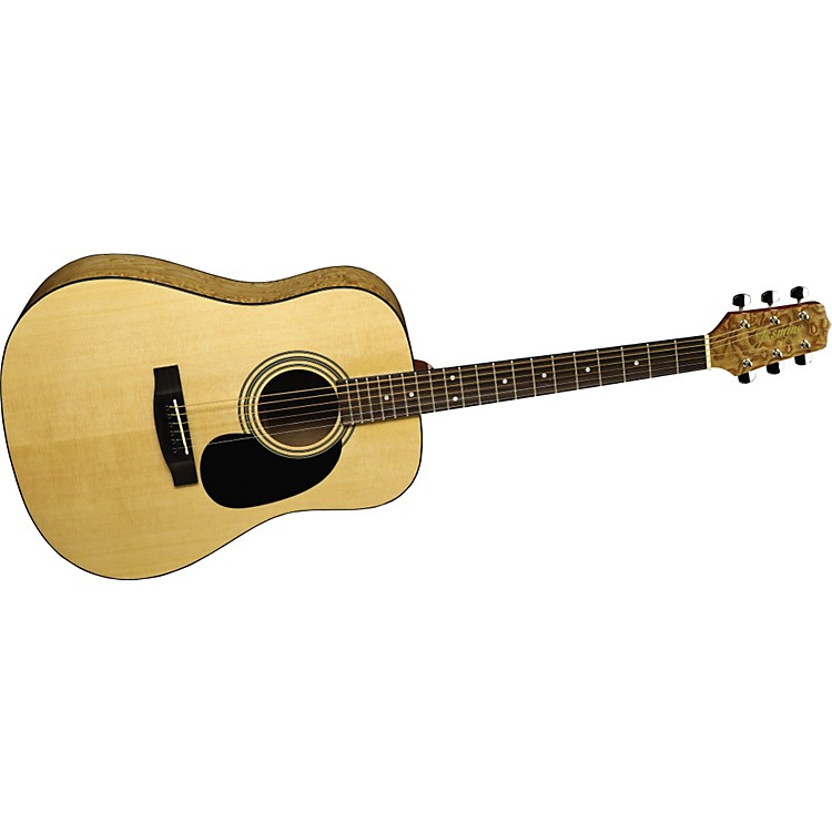 JasmineS35Q Quilted Maple Dreadnought Acoustic Guitar