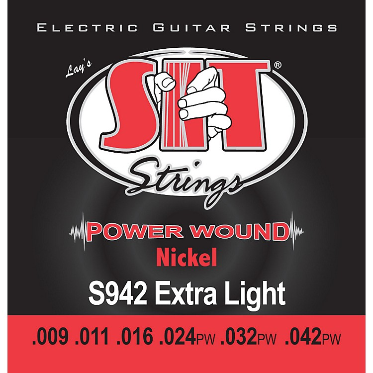 SIT StringsS942 Extra Light Power Wound Nickel Electric Guitar Strings