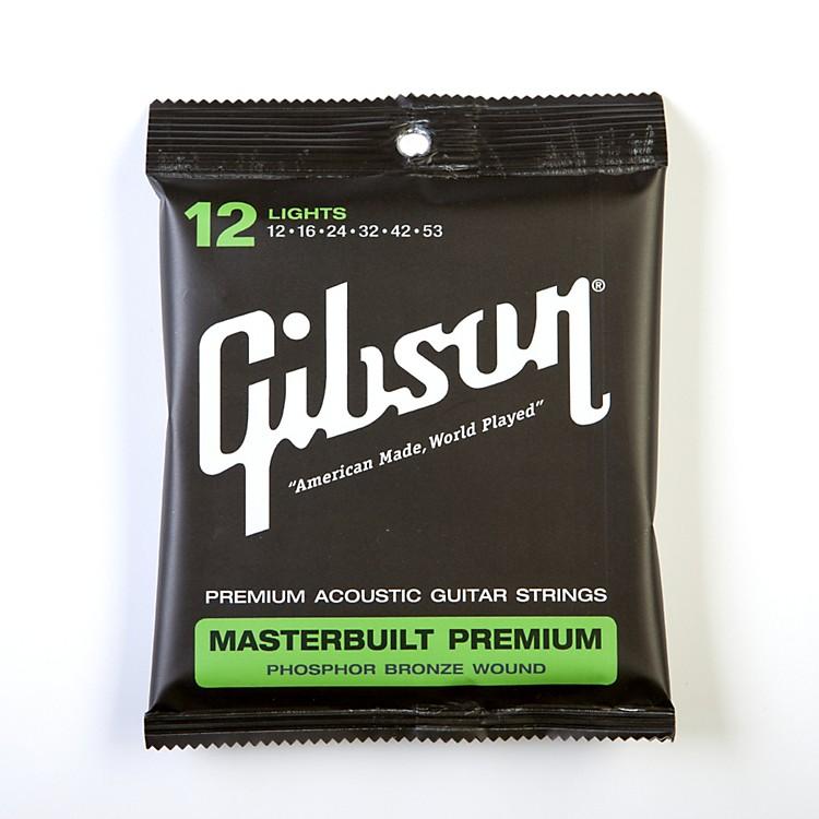 GibsonSAG-MB12 Masterbuilt Premium Phosphor Bronze Acoustic Guitar Strings