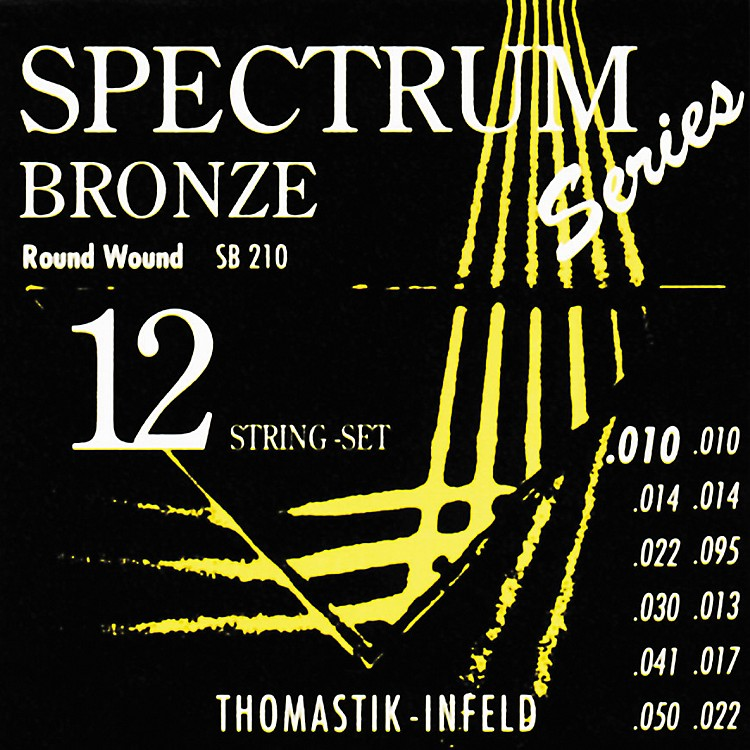 Thomastik SB210 Spectrum Bronze Extra-Light 12-String Acoustic Guitar Strings