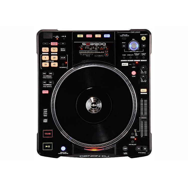 Denon SC3900 Digital Media Turntable & DJ Controller Black