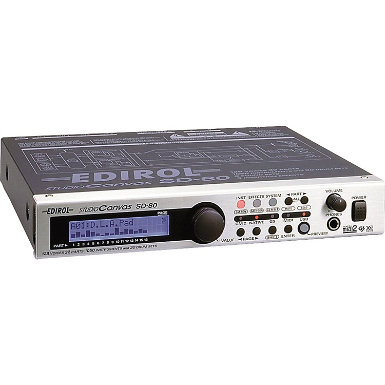 edirol sd 80 studio canvas 128 voice usb sound module music123. Black Bedroom Furniture Sets. Home Design Ideas