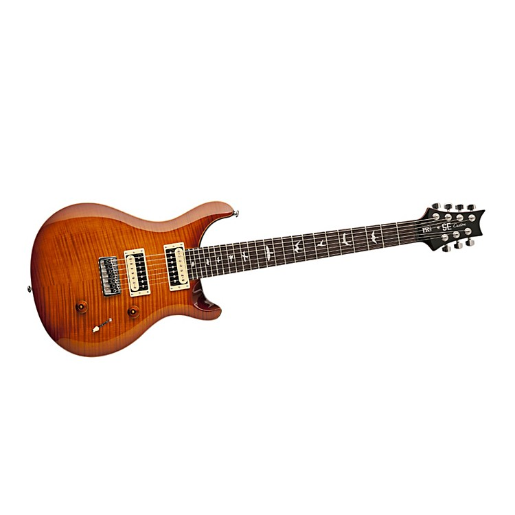 PRS SE 7-String Flame Maple Top Electric Guitar Vintage Sunburst