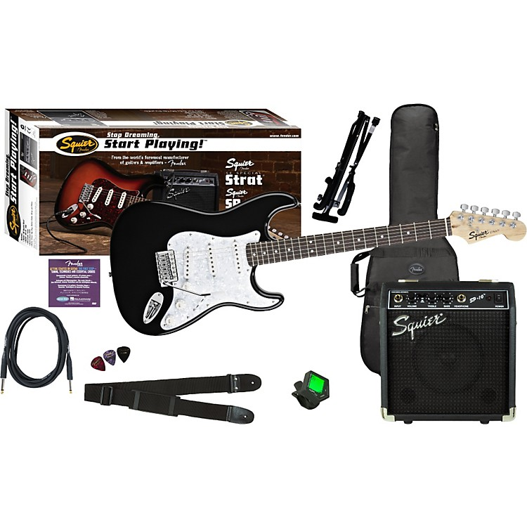 Squier SE Special Strat with Squier SP-10 Amp Value Pack Arctic White