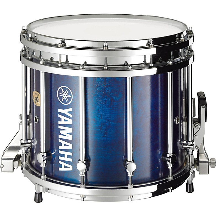 Yamaha SFZ Marching Snare Drum 14 x 12 in. Blue Forest with Chrome Hardware