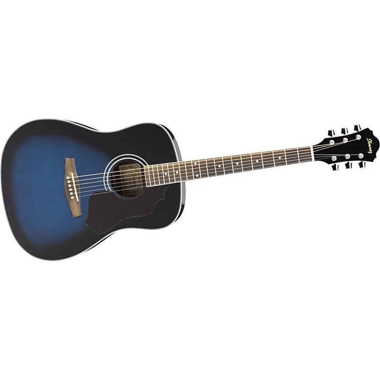 IbanezSGT120 Sage Series Acoustic GuitarTransparent Blue Sunburst