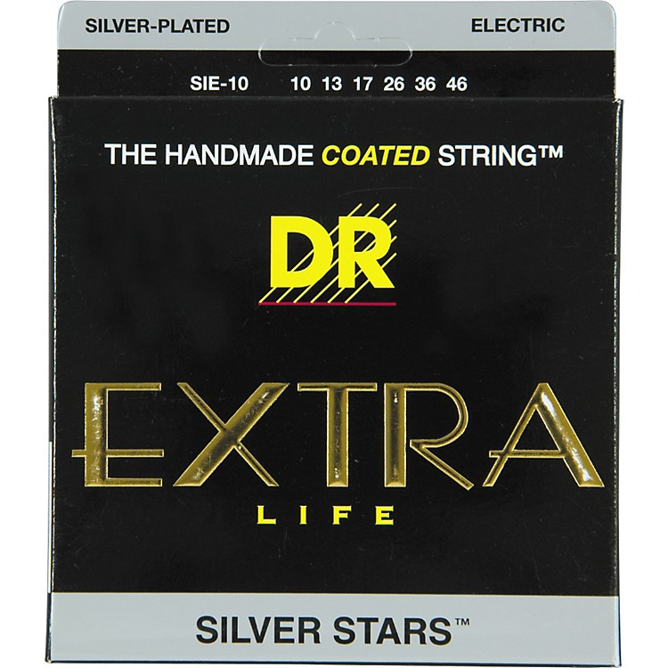 DR StringsSIE-10 Silver Stars Coated Medium Electric Guitar Strings