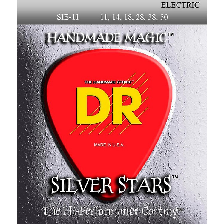 DR StringsSIE-11 Silver Stars Coated Medium-Lite Electric Guitar Strings