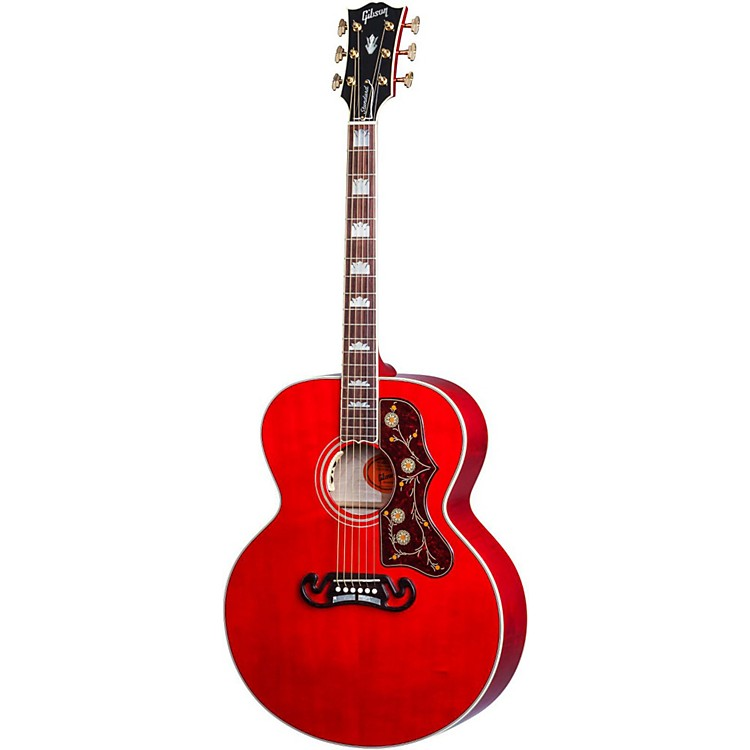 Gibson SJ-200 Acoustic-Electric Guitar Transparent Cherry
