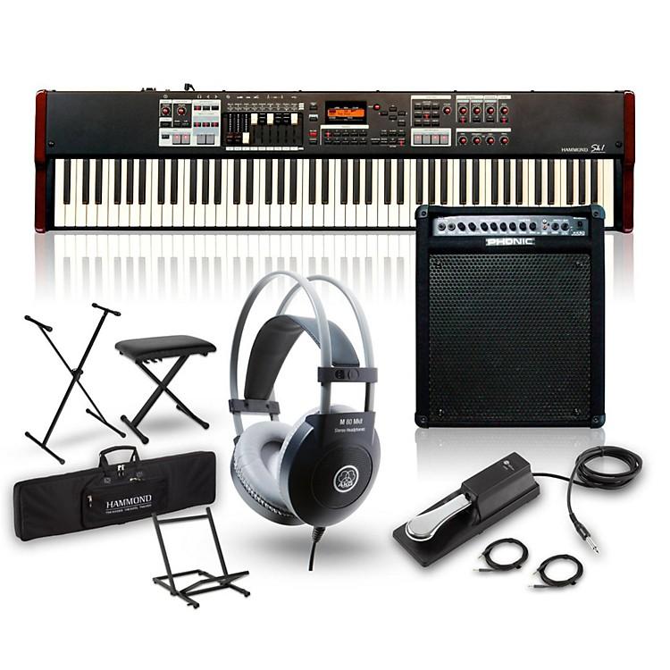 HammondSK1-88 88-Key Pro Digital Keyboard/Organ with Keyboard Amp, Stand, Headphones, Bench & Sustain Pedal