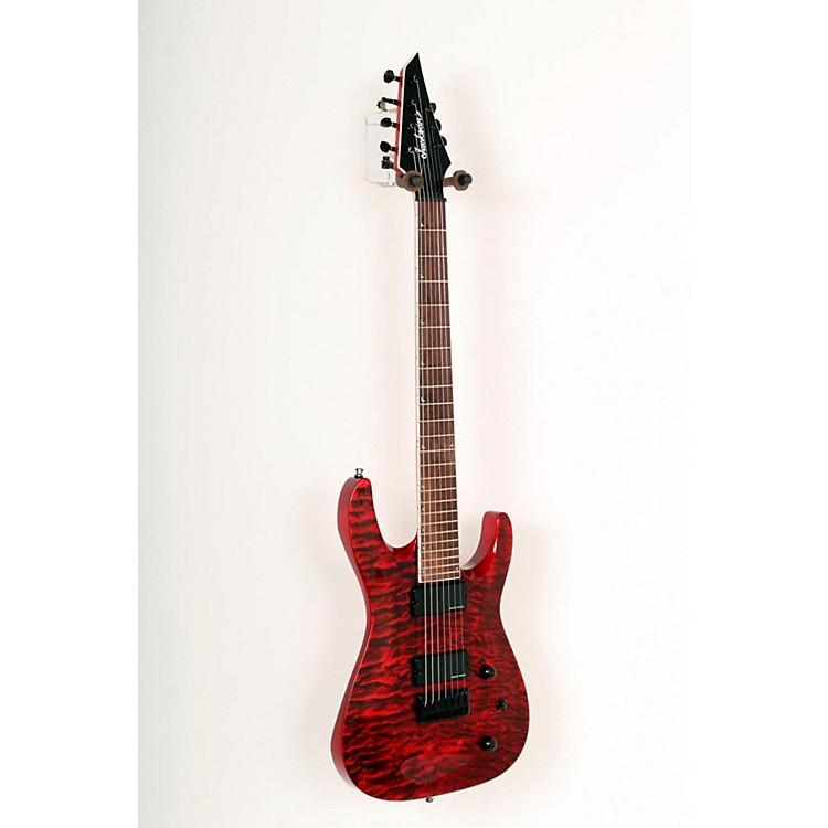 Jackson SLATHXSDQ 3-7 7-String Electric Guitar Transparent Red 888365784571