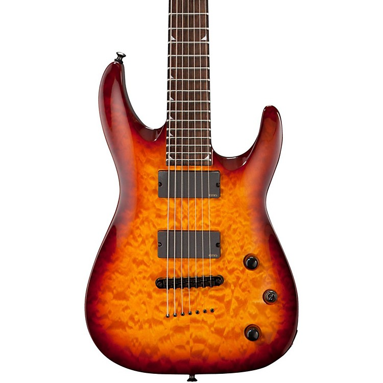 Jackson SLATTXMGQ3-7 String Electric Guitar Tobacco Burst
