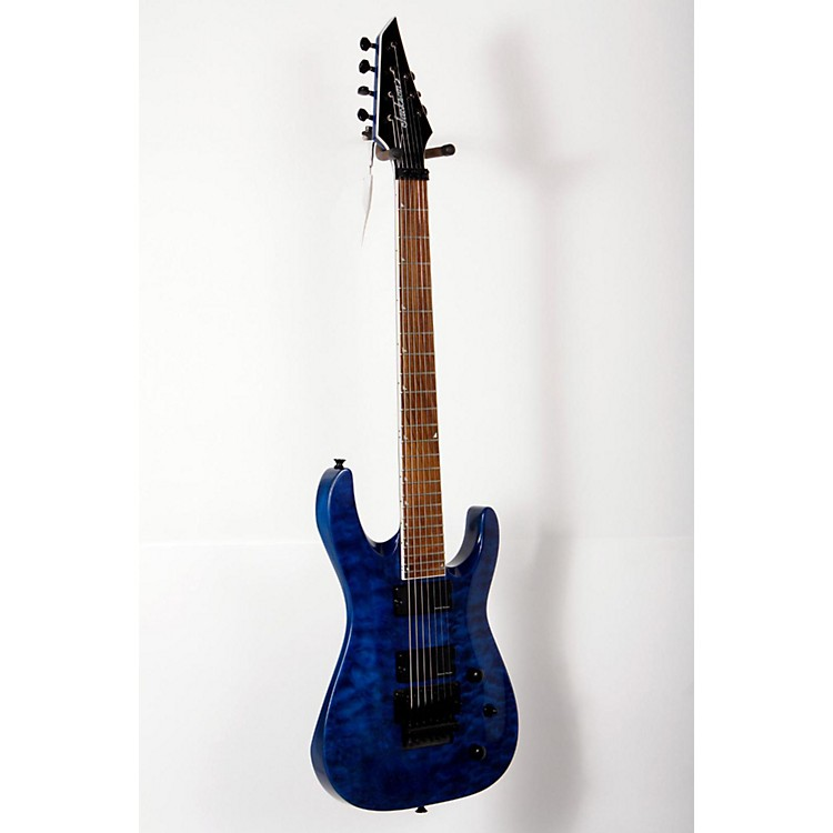 Jackson SLATXSD 3-7 Quilted Maple Top 7-String Electric Guitar Transparent Blue 888365826677