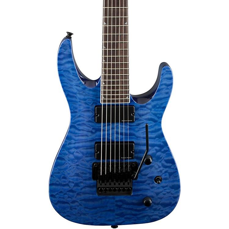 JacksonSLATXSD 3-7 Quilted Maple Top 7-String Electric GuitarTransparent Blue
