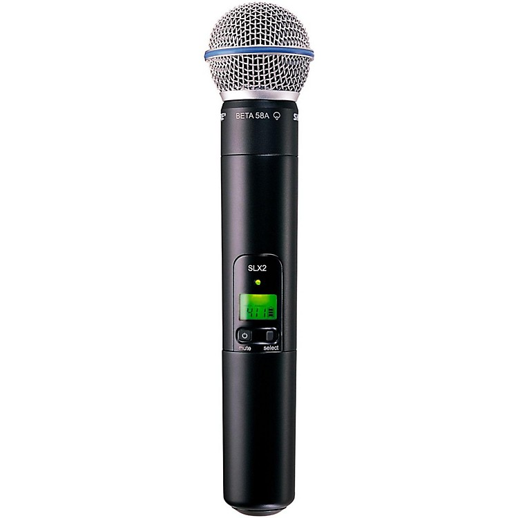 Shure SLX2/Beta58 Wireless Handheld Transmitter Microphone Band H19