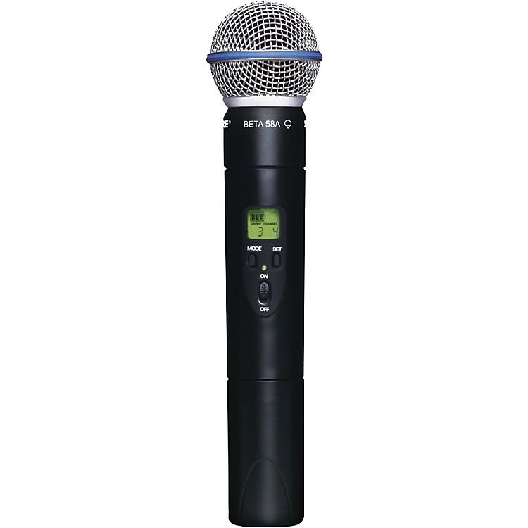 Shure SLX2/Beta58 Wireless Handheld Transmitter Microphone L4
