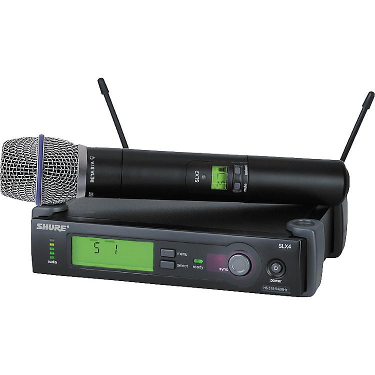 ShureSLX24/BETA87A Handheld Wireless Condenser Microphone System
