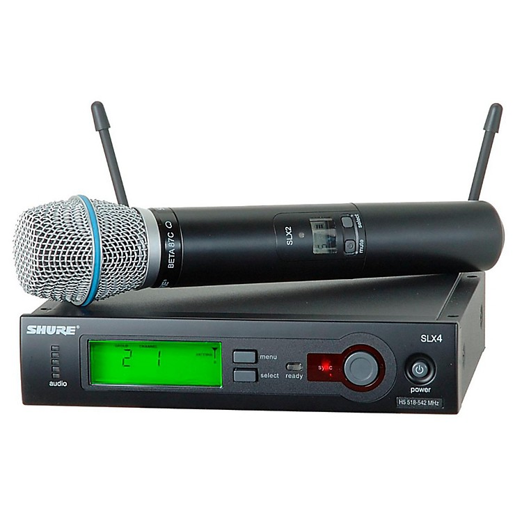 Shure SLX24/BETA87C Wireless Microphone System Band H19