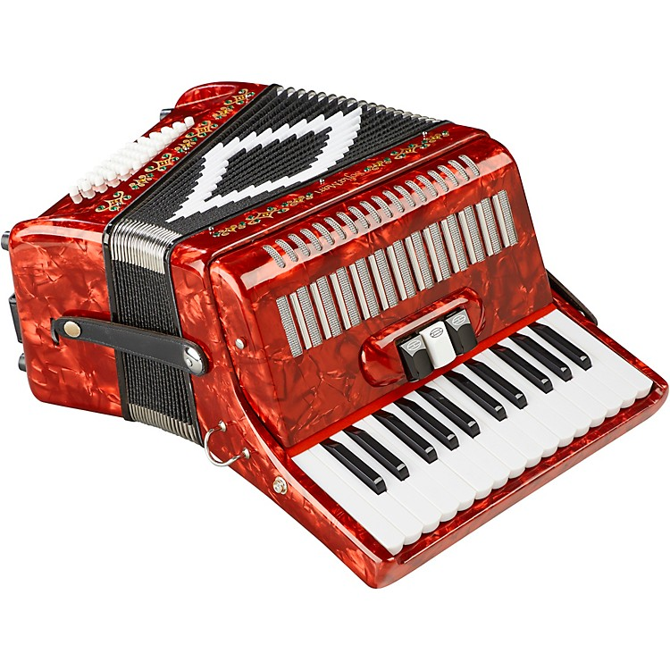 SofiaMari SM-2648, 26 Piano 48 Bass Accordion Red Pearl