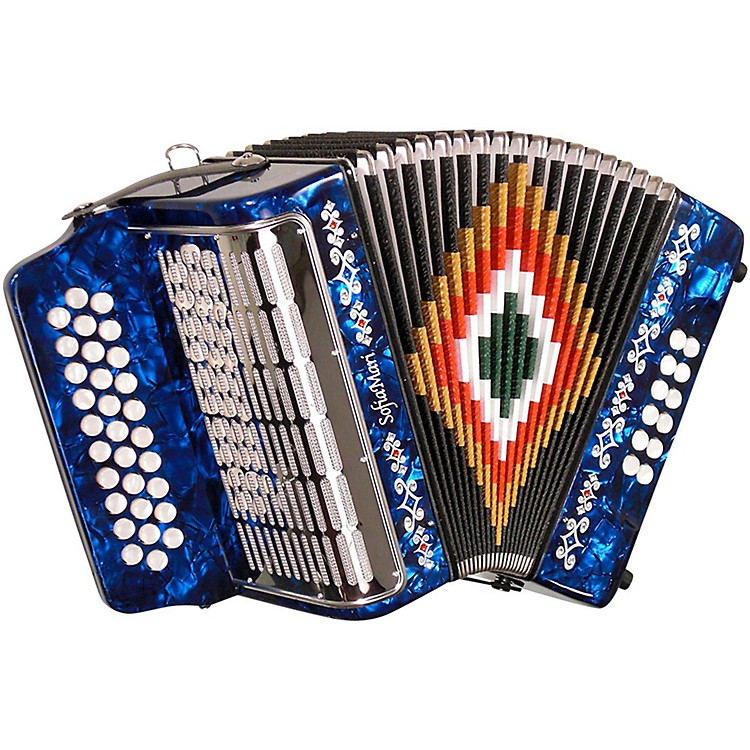 SofiaMari SM-3112 31-Button 12 Accordion GCF Dark Blue Pearl