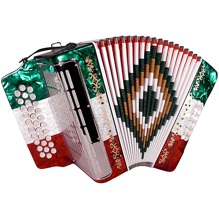 SofiaMari SM-3112 31-button 12 Bass Accordion FBE Red/White/Green