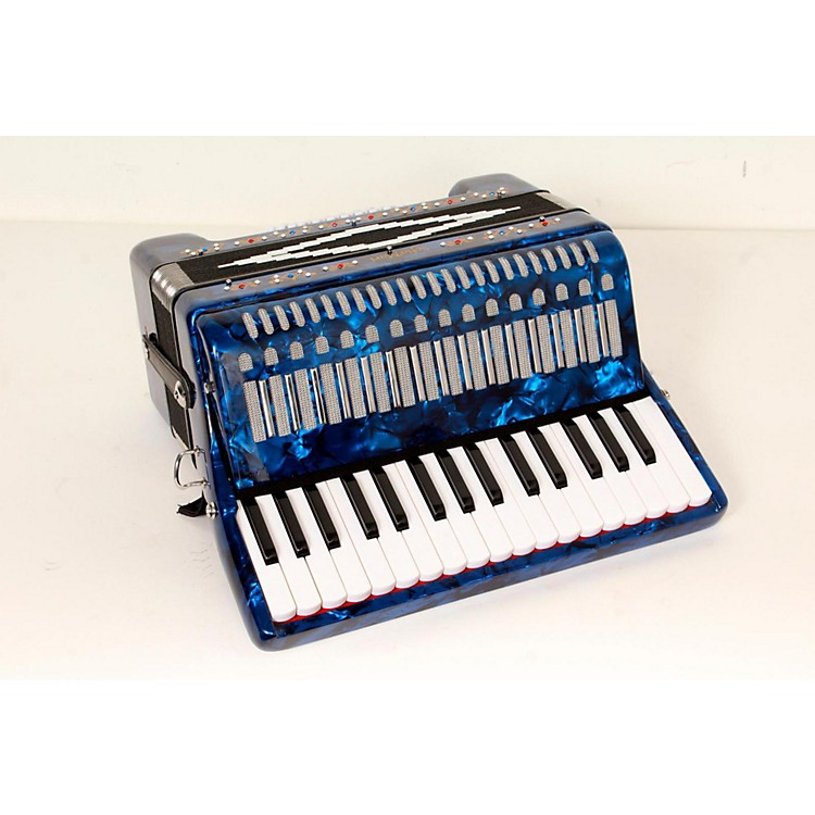 SofiaMari SM-3232 32 Piano 32 Bass Accordion Dark Blue Pearl 888365778334