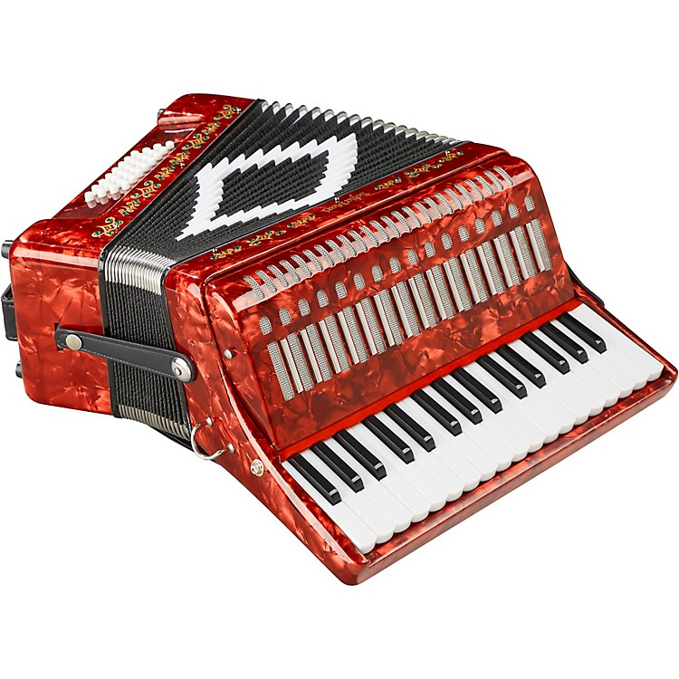 SofiaMari SM-3232 32 Piano 32 Bass Accordion Red Pearl
