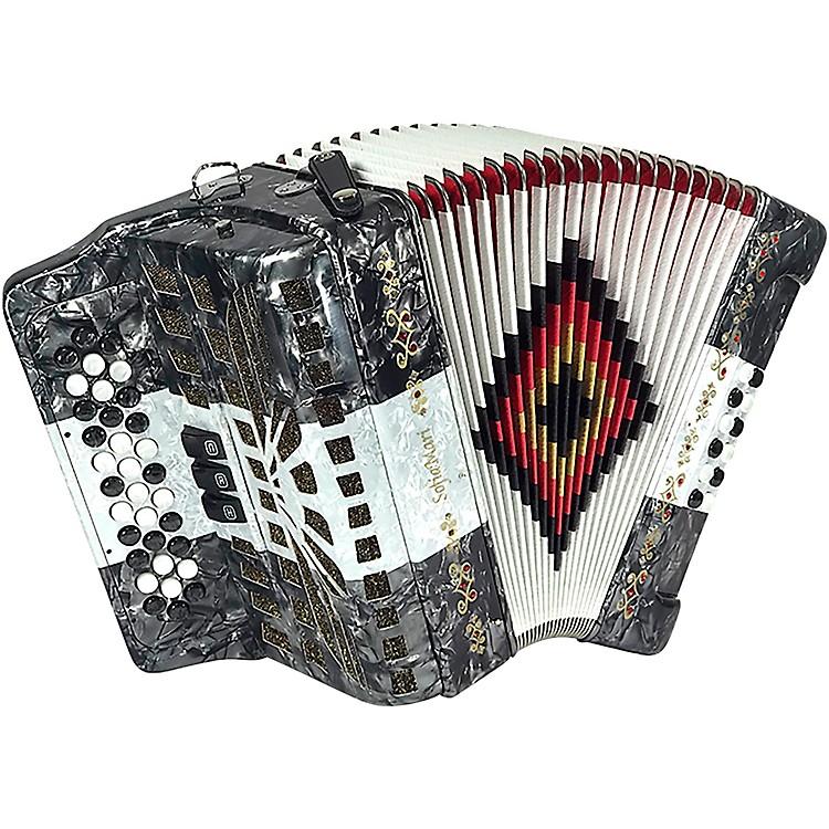 SofiaMariSM-3412 34-Button 12 Bass Accordion FBEGray/White/Gray