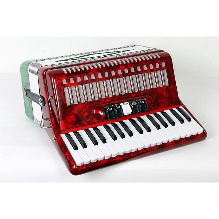 SofiaMariSM-3448 34 Piano 48-Bass AccordionRed and Green Pearl888365840383