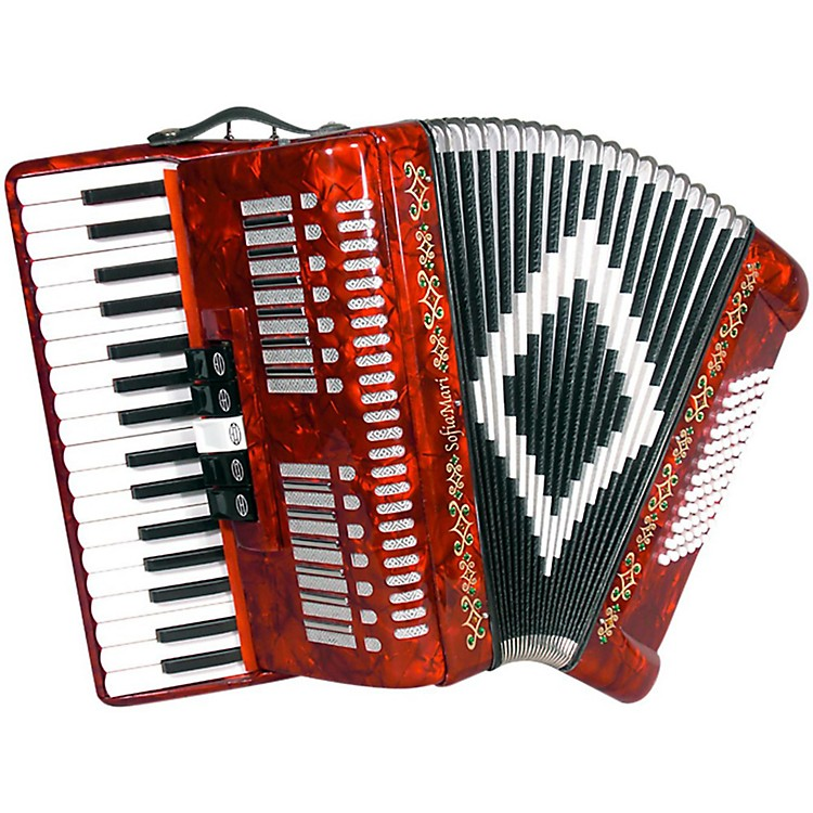 SofiaMariSM 3472 34 Piano 72 Bass Button AccordionRed Pearl