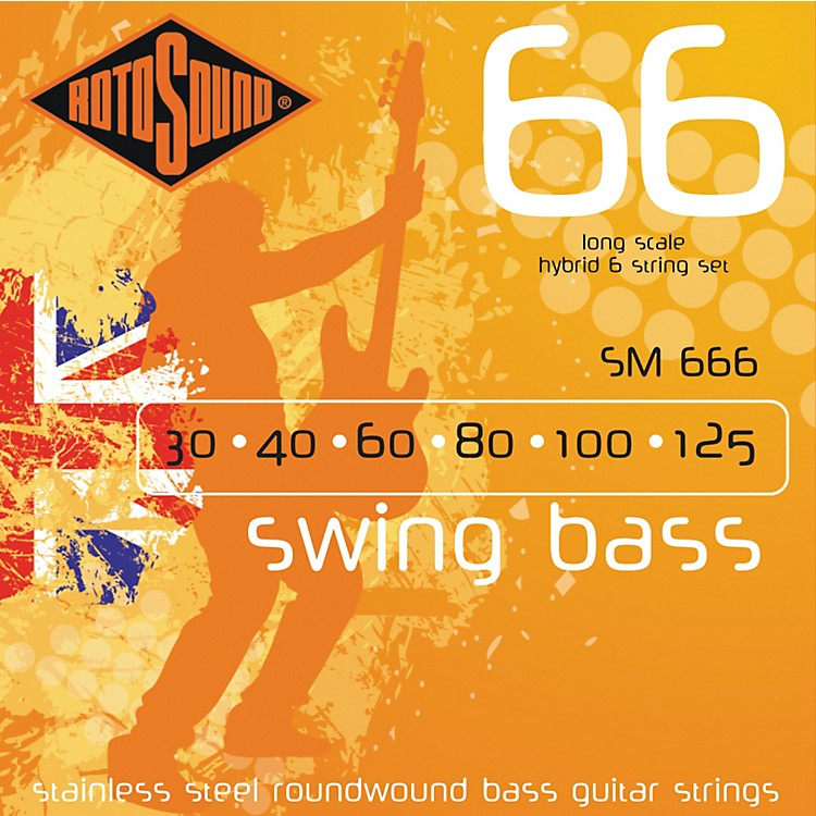Rotosound SM666 Trubass 6-String Roundwound Bass Strings