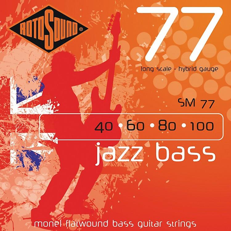 RotosoundSM77 Jazz Bass Monel Flatwound Strings