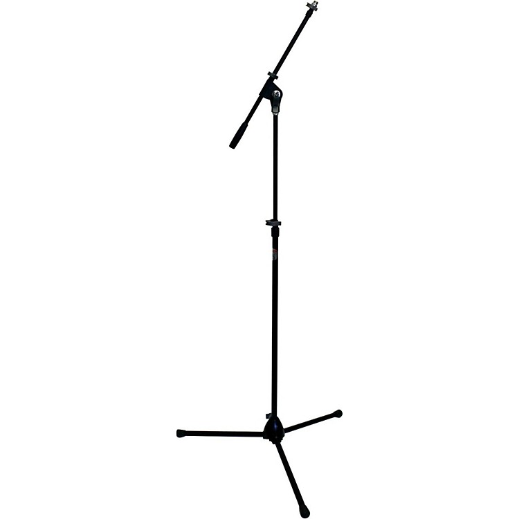 Peak Music Stands SMZ-20 Tripod Mic Stand Zinc Base and Telescoping Boom Black