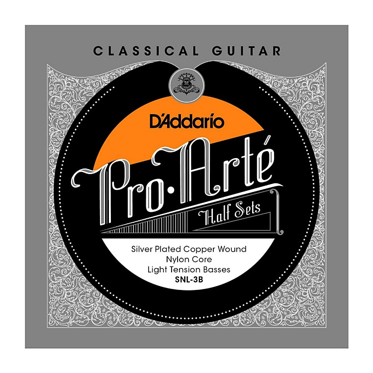 D'AddarioSNL-3B Pro-Arte Light Tension Classical Guitar Strings Half Set