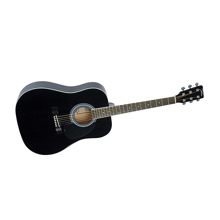 Johnson SO-610-T-BK Dreadnought Acoustic Guitar