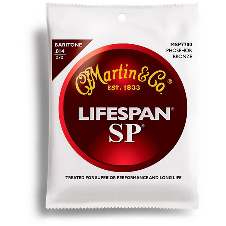 Martin SP 7700 Phosphor Bronze Lifespan Coated Baritone Acoustic Guitar Strings