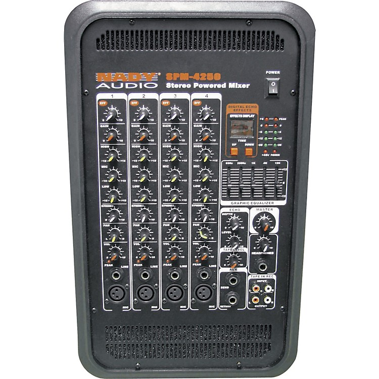 Nady SPM-4250 4-Channel Stereo Powered Mixer w/DSP effects