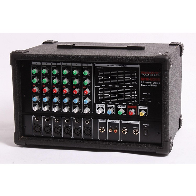 Nady SPM-6300 6-Channel Powered Mixer with DSP  889406600973