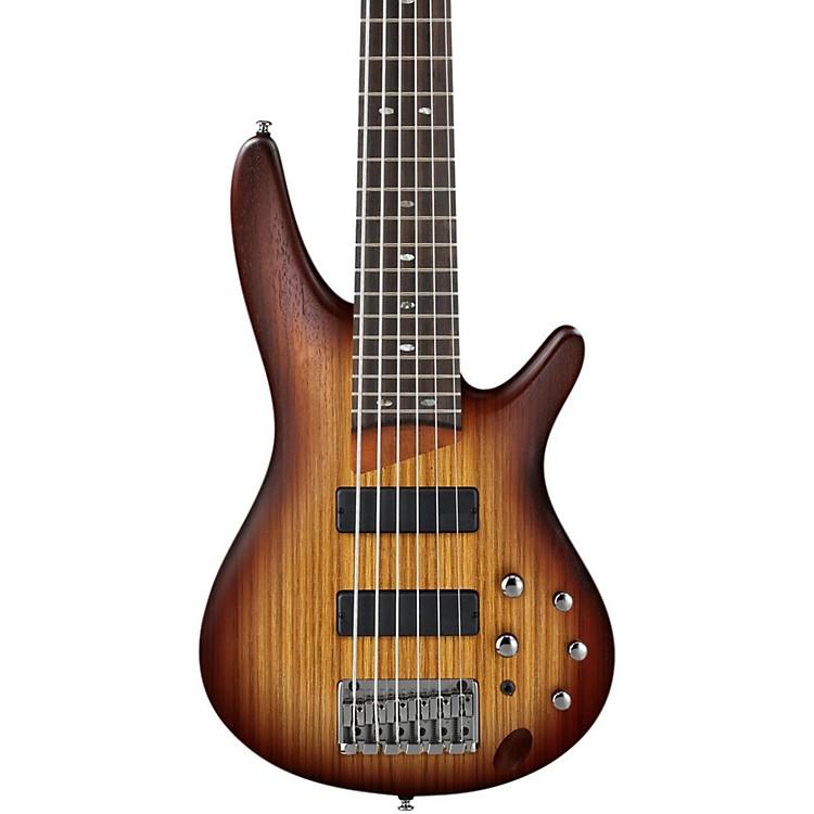 IbanezSR506ZW 6-String BassFlat Brown Burst