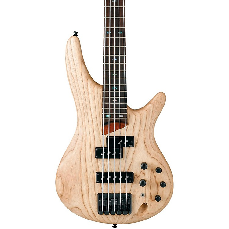 Ibanez SR655 5-String Electric Bass Guitar Flat Natural