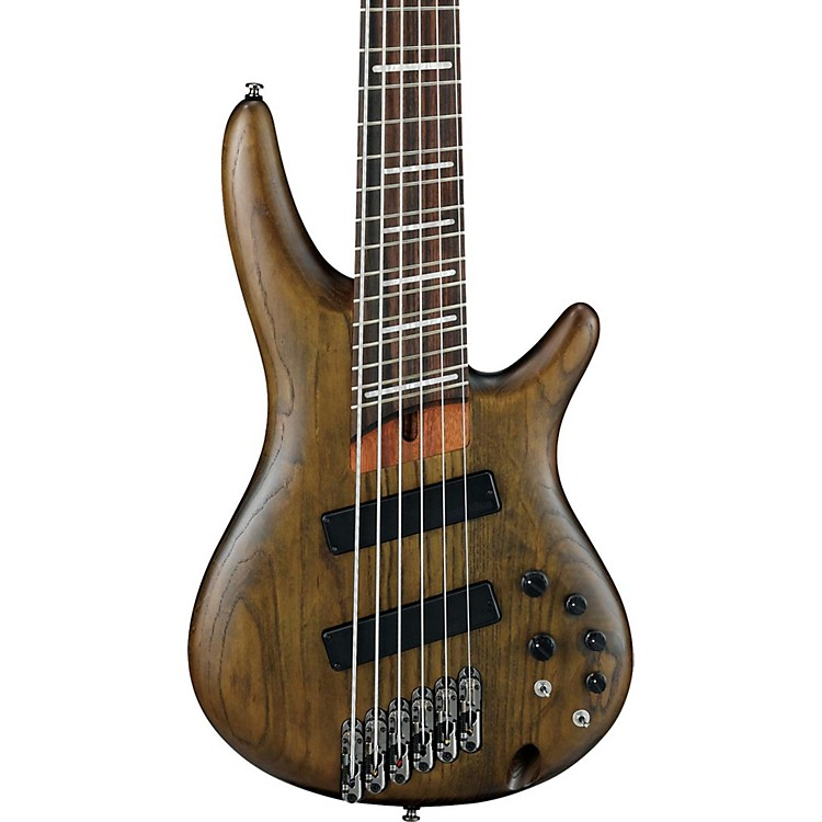 Ibanez SRFF806 Multi-Scale Six-String Electric Bass Guitar Flat Walnut Rosewood
