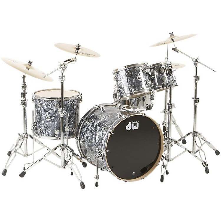 DW SSC Collector's Series 4-Piece Shell Pack Gray Marine Pearl Chrome Hardware