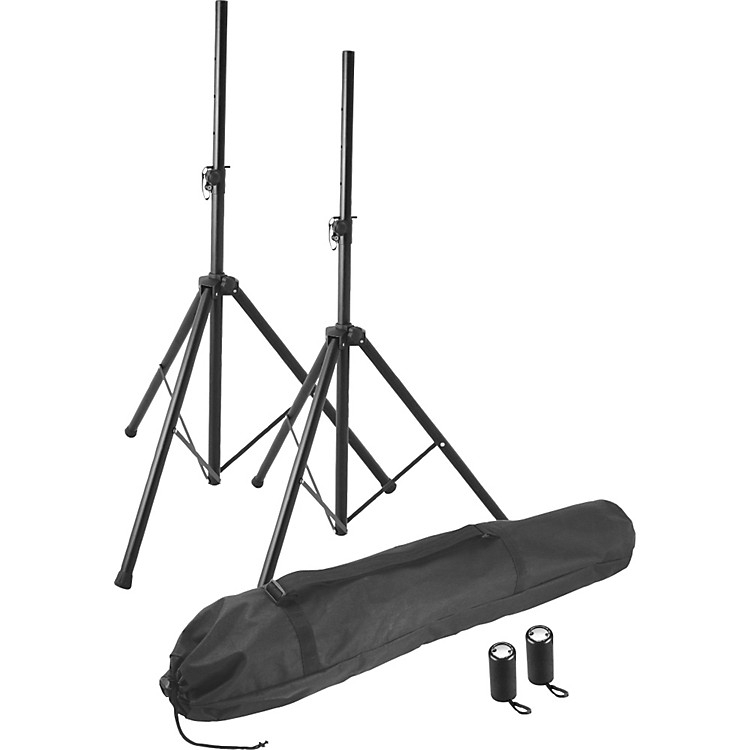 On-Stage Stands SSP7855 Professional Speaker Stand Pak Black