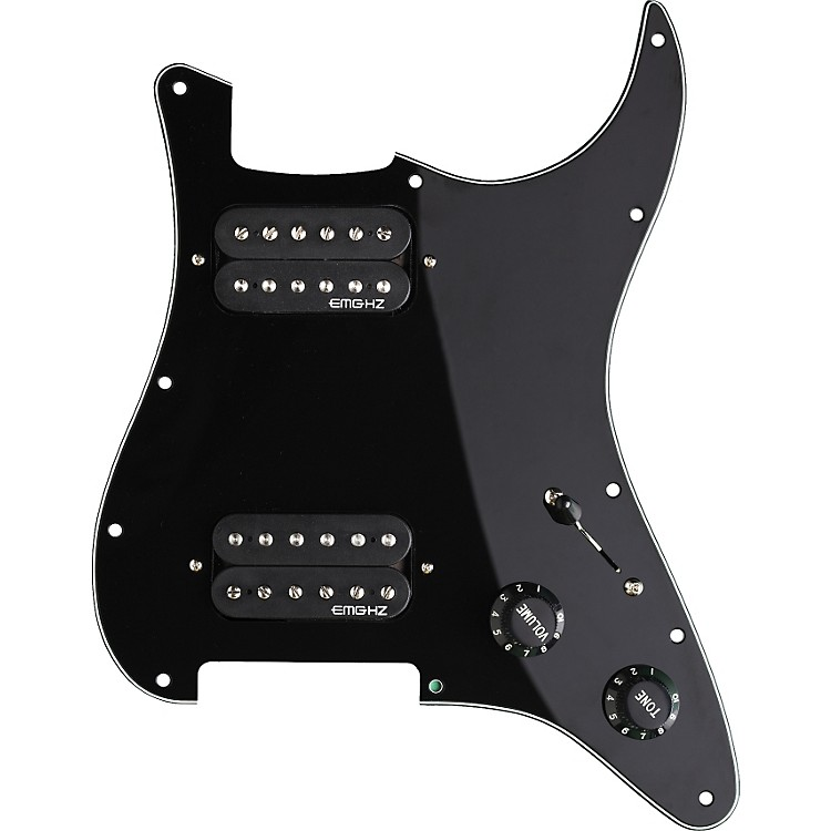 EMG ST-12 SRO Dual Humbucker Prewired Pickguard Black
