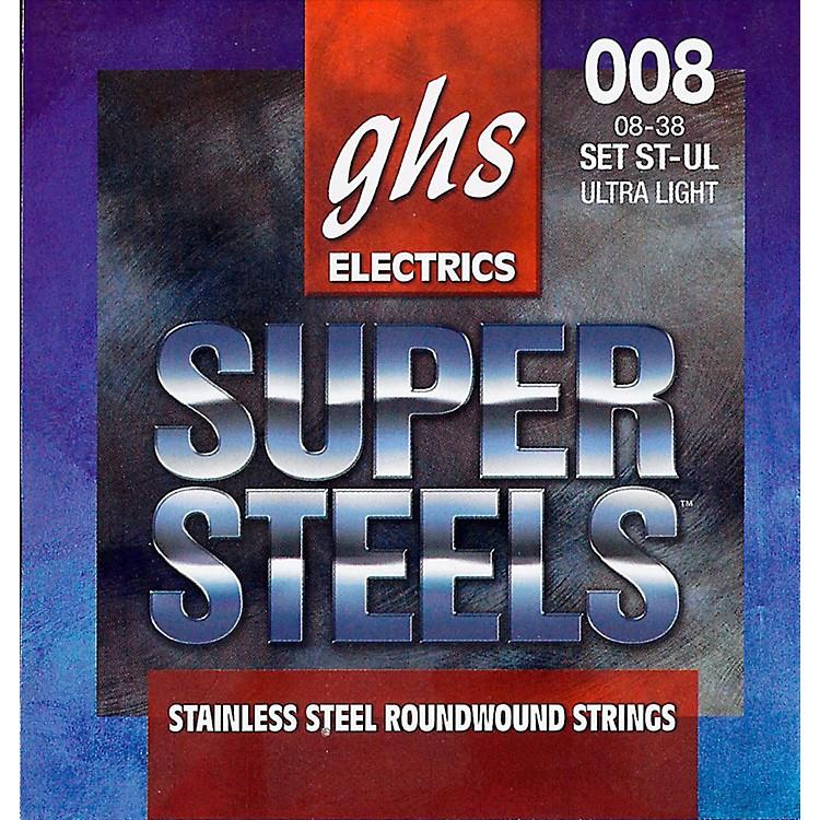 GHSST-UL Super Steels Roundwound Ultra Light Electric Guitar Strings