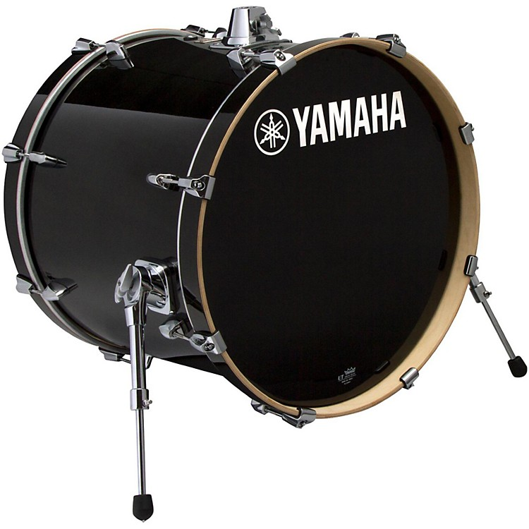 Yamaha STAGE SBB 2017NW CUSTOM BIRCH BASS DRUM 20X17 IN NATURAL WOOD 22 x 17 in. Raven Black