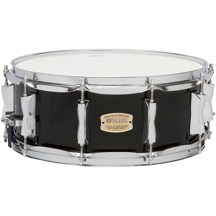 YamahaSTAGE SBS 1455CR CUSTOM BIRCH SNARE 14X5 5 IN CRANBERRY RED14 x 5.5 in.Raven Black