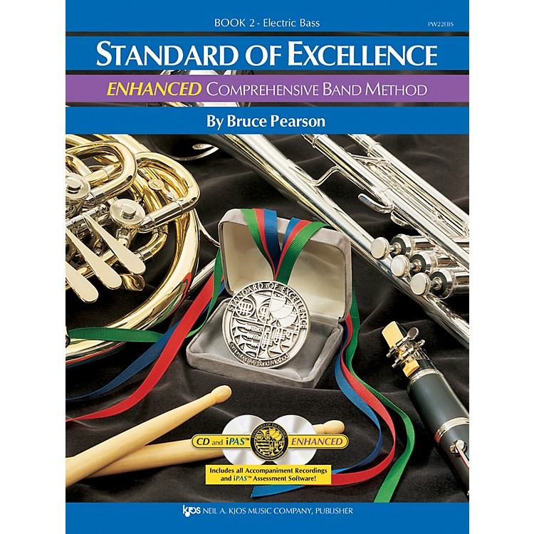 KJOS STANDARD OF EXCELLENCE BOOK 2 ENHANCED ELECTRIC BASS GUITAR